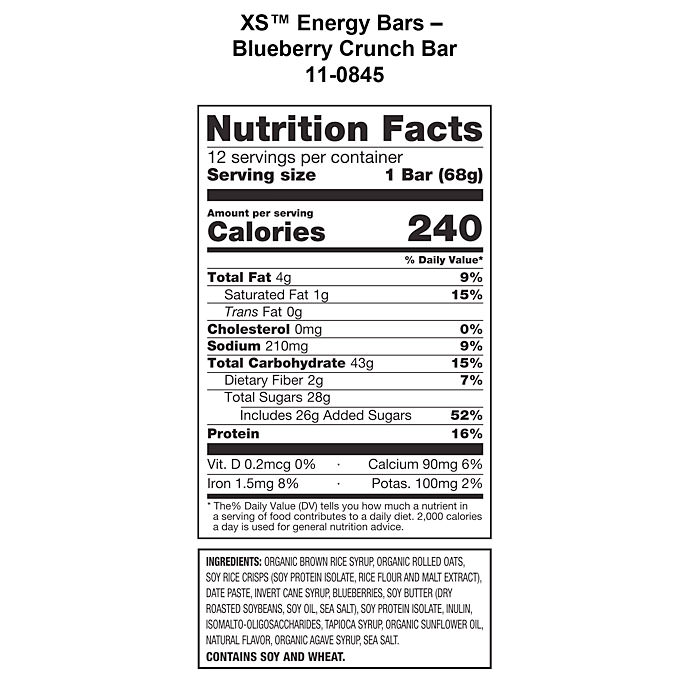 Xs Trade Energy Bar Blueberry Crunch Energize Sports Nutrition Nutrition Shop Amway United States