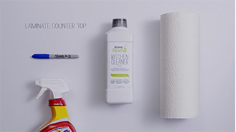 Background image shows AmwayHome™ Kitchen Cleaner.