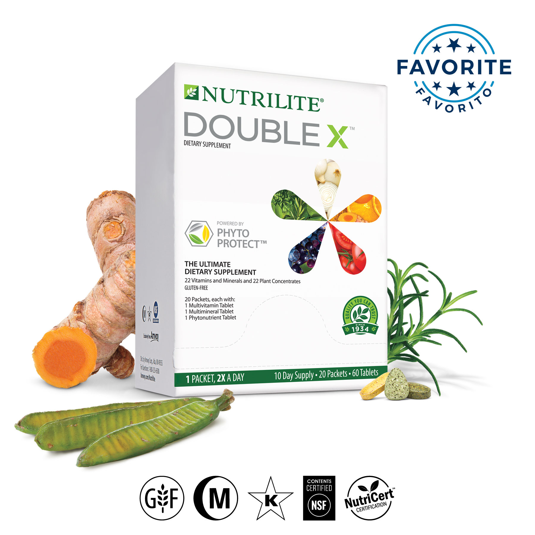 Nutrilite Trade Double X Trade Vitamin Mineral Phytonutrient Supplement 10 Day Supply Multivitamins Vitamins Supplements Nutrition Shop Amway United States