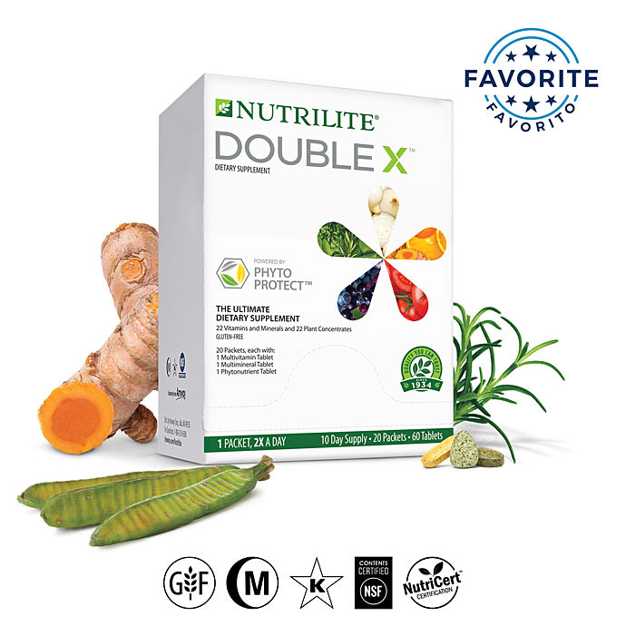 Nutrilite™ Double X™ Vitamin/Mineral/Phytonutrient Supplement - 10-Day Supply