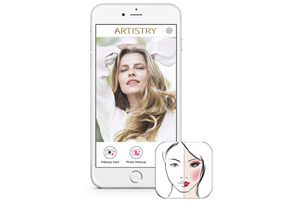 Artistry Beauty App displayed on Phone.