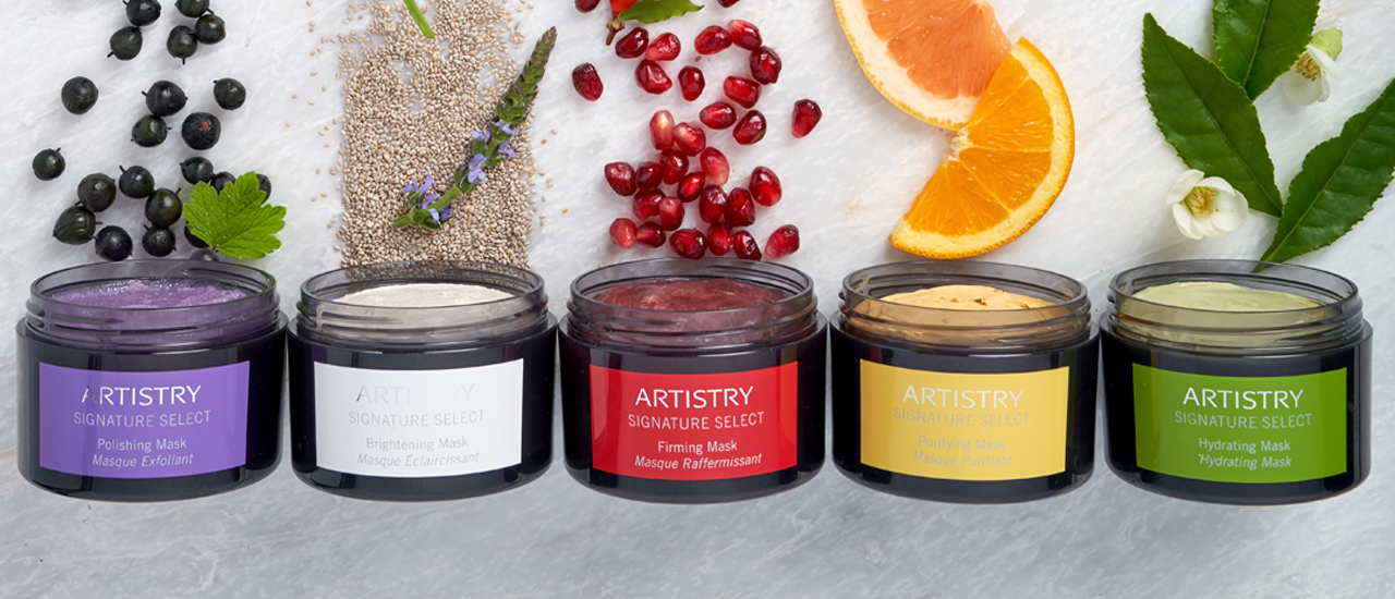 Artistry Signature Select Polishing, Brightening, Purifying, Firming and Hydrating Masks