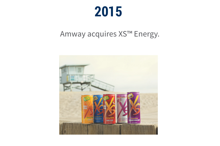 2015: Amway acquires XS™ Energy.