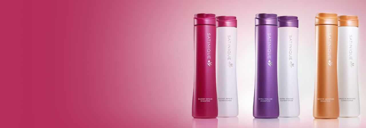 Satinique™ Care Systems:  Satinique™ Color Repair Shampoo and Conditioner, Satinique™ Extra Volume Shampoo and Conditioner, Satinique™ Extra Moisture Shampoo and Conditioner.