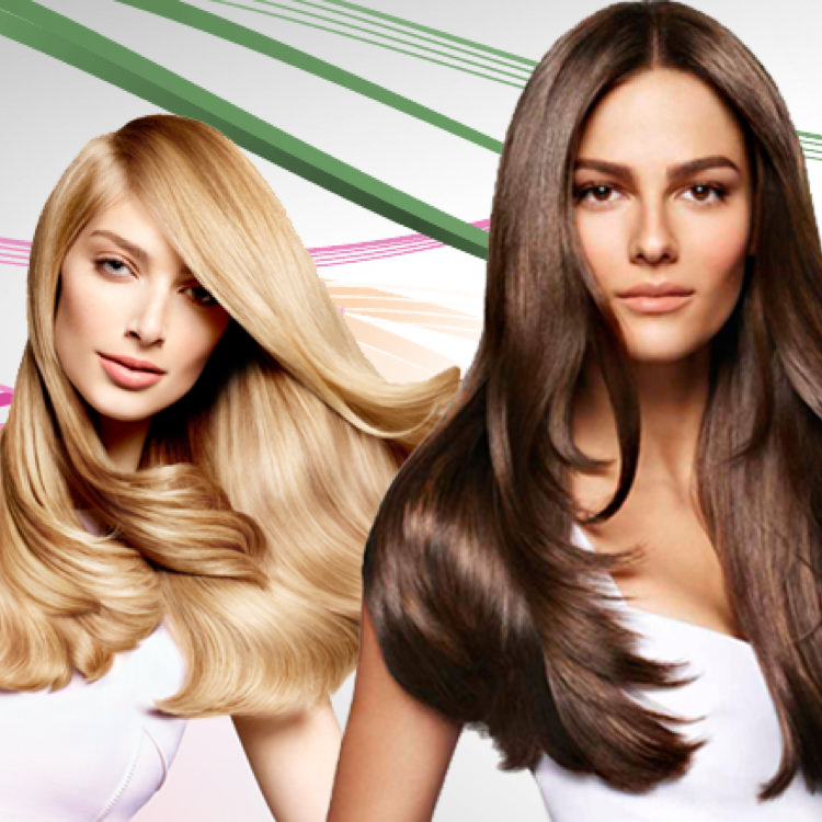 Three women with beautifully styled hair. Satinique™ hair care and styling products.