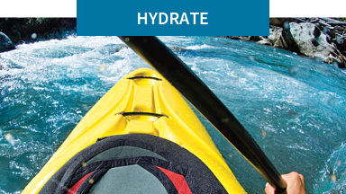 Hydrate: Improve your body's hydration.